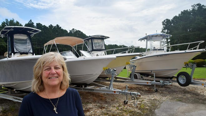 Jean Wachter at American Marine on U.S. 17 South in New Bern says boat sales are booming.