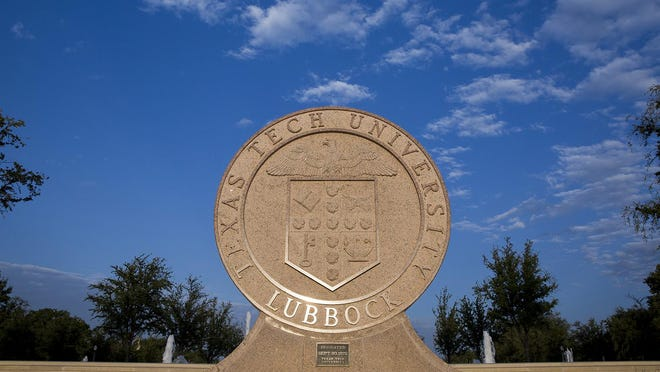 The school seal at the Texas Tech University campus in Lubbock.