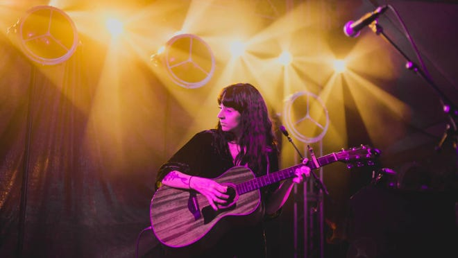 Katie Crutchfield of Waxahatchee performs in 2018 at Stubb's.