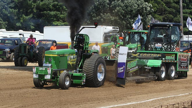 A tractor pull will be held Aug. 7 and 8 at the Stephenson County Fairgrounds after this year's fair was canceled because of coronavirus concerns. In this file photo, a tractor pull is held June 29, 2018, at the Stephenson County Fair.