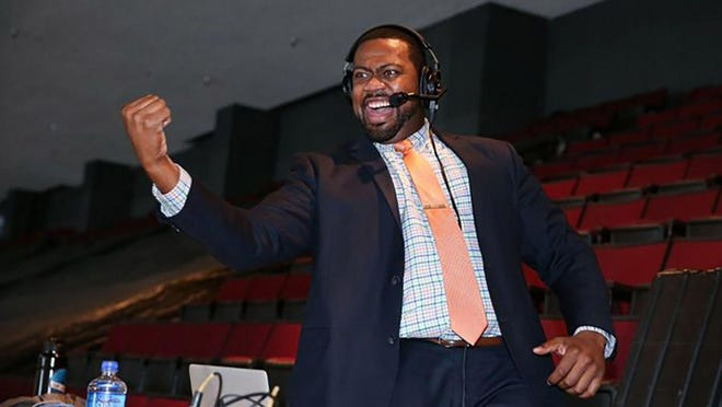 Everett Fitzhugh was named as a voice as of the new Seattle Kraken hockey franchise on Friday, becoming the NHL's first Black full-time team play-by-play broadcaster.