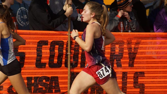 Belvidere North's Sydnie Elder, shown taking 21st overall two years ago at the IHSA state meet while helping her team secure the Class 2A state cross country title, is a senior on this year's squad.