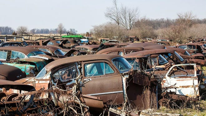 Looking for car parts? You walk in with your own tools, you pay something to enter the property, you started digging.