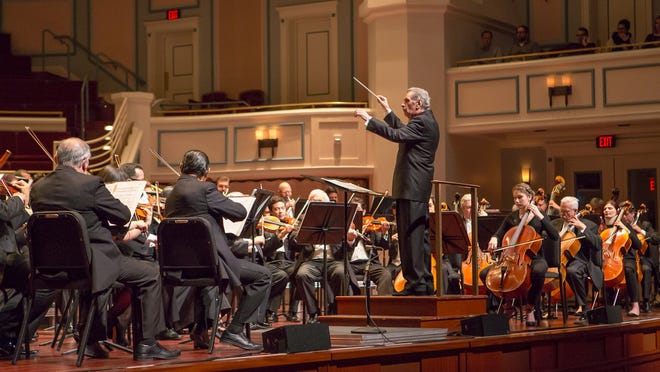 Conductor Enrique Bátiz led The National Symphony Orchestra of Mexico on a performance at the Palladium in Carmel on Thursday, Feb. 27, 2015.