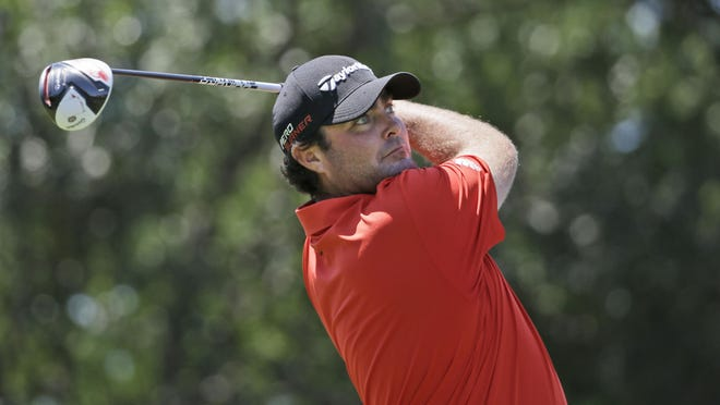 Steven Bowditch, watching his tee shot on the second hole Sunday at the Byron Nelson golf tournament, won for the second time on tour. Steven Bowditch watches his tee shot on the second hole during the final round of the Byron Nelson golf tournament Sunday.