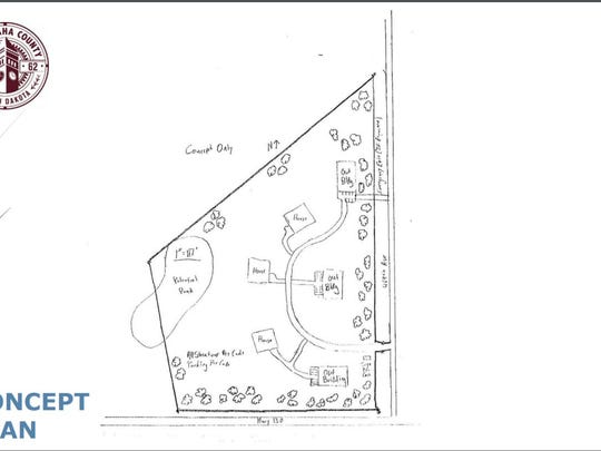 The concept plan for Hope Harbor, a non-profit organization