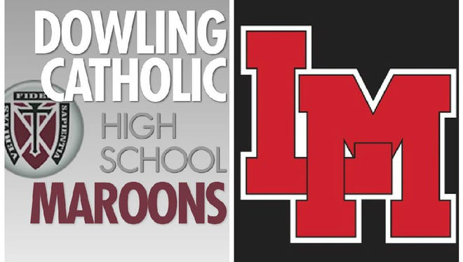 Dowling Catholic's Jack Fink's split-second sportsmanship helped shape the team race at the 2015 Iowa high school state boys' track meet on Thursday, May 21, 2015.