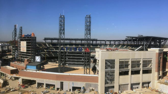 Construction of the Braves' new home, SunTrust Park, is scheduled to be completed in time for the 2017 season opener.