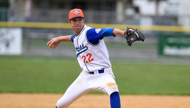 Hallam pitcher Matt Ruth, seen here in a file photo, was credited with two victories over the weekend.