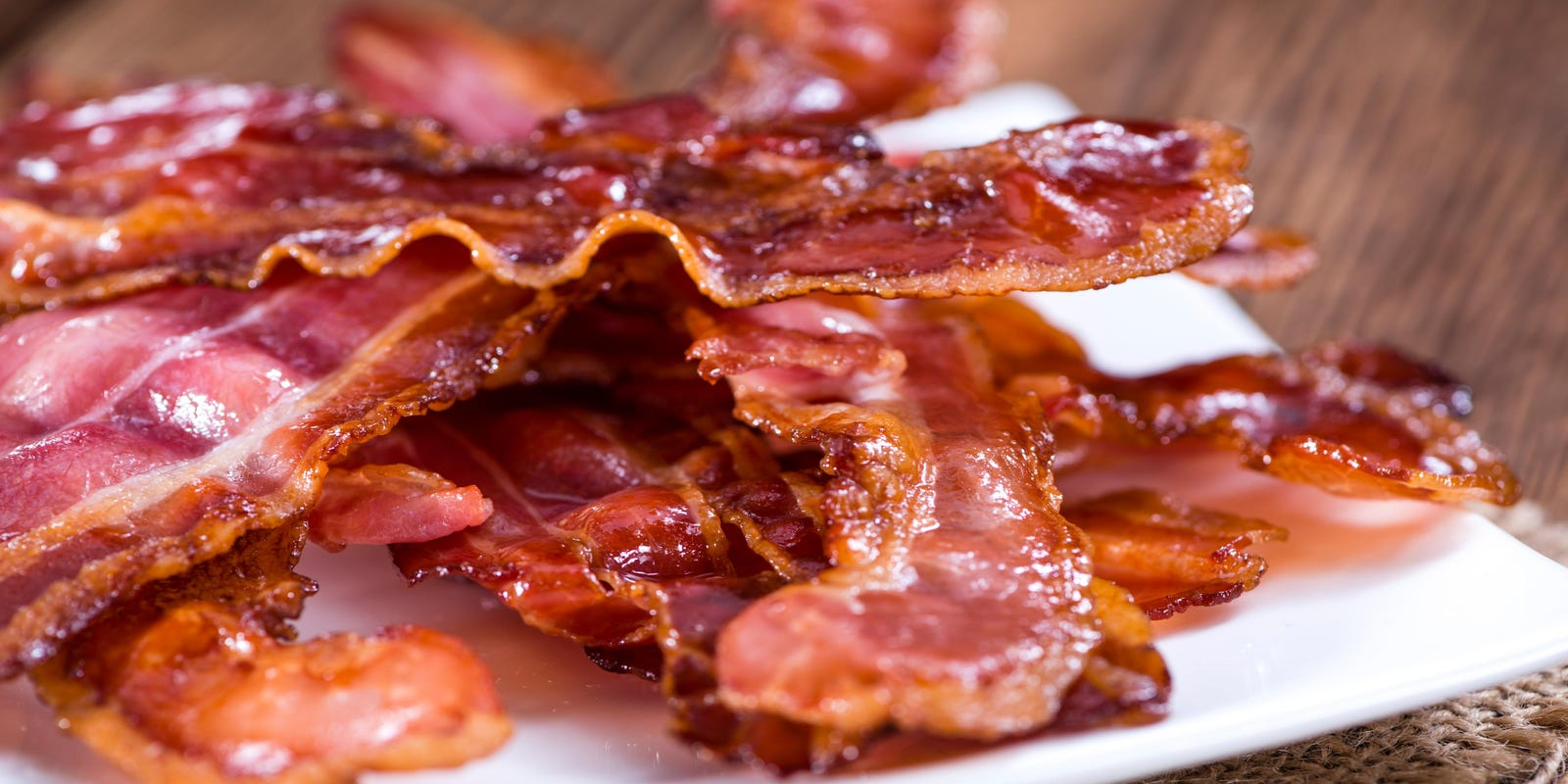 Sizzling bacon: Truck carrying pork catches fire
