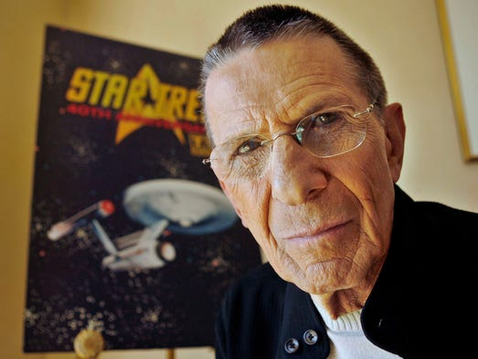 Actor Leonard Nimoy, seen in 2006,  died on Friday