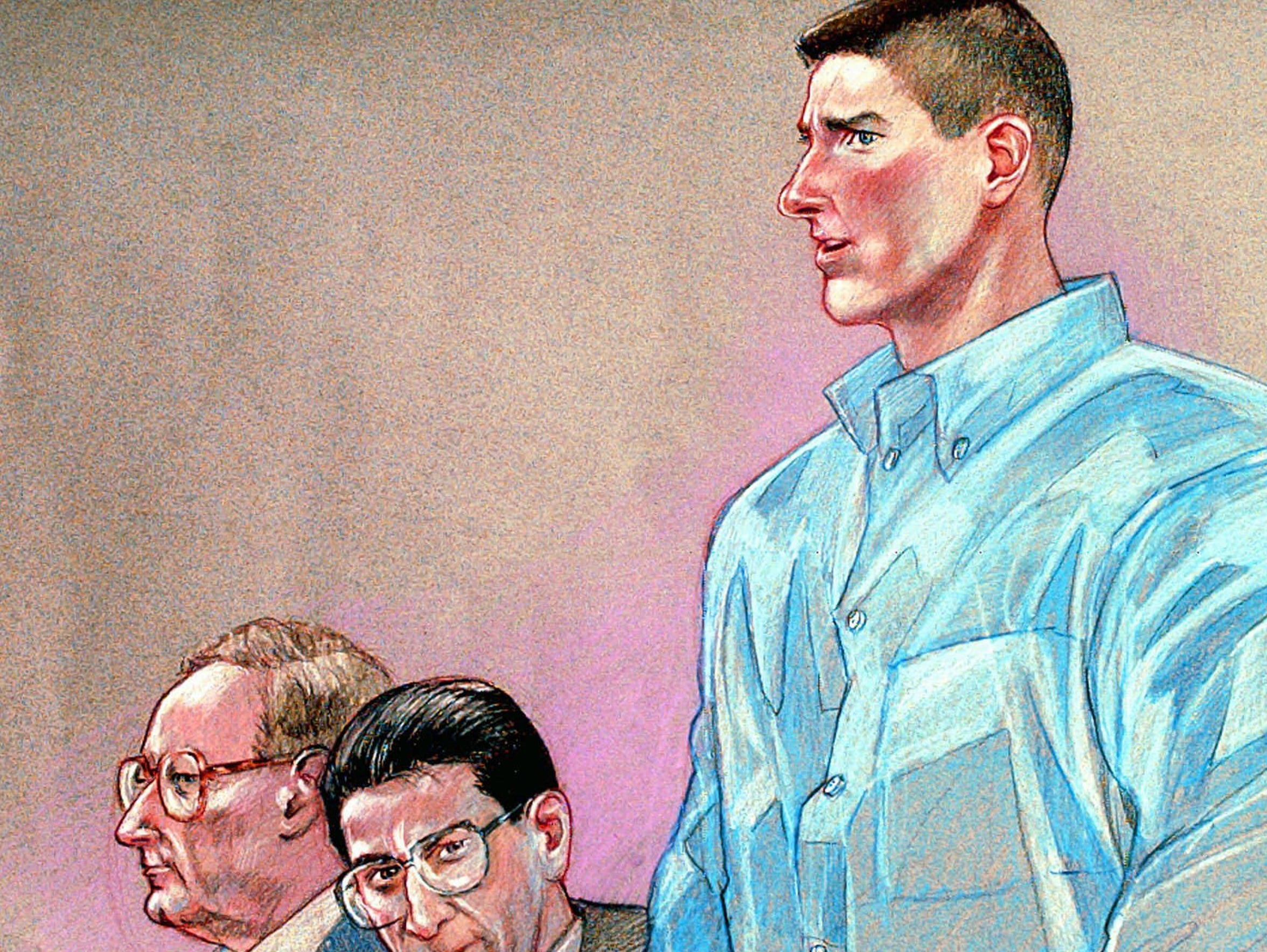 Timothy McVeigh addresses the court at his trial in