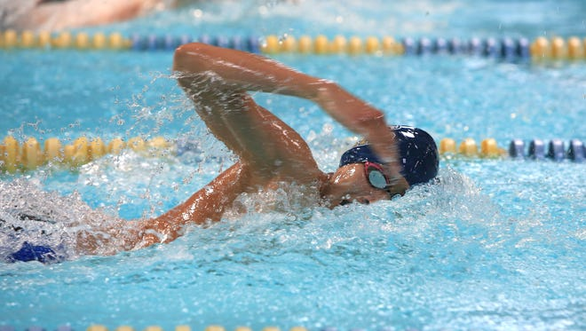 Erwin Ortiz is a senior for the Roberson swimming team.