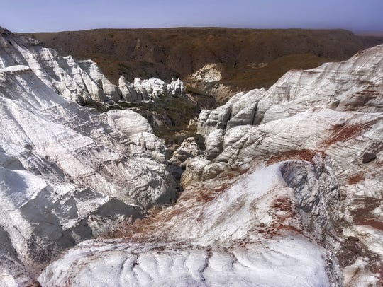 Chalk Cliffs in Chouteau County were a surprising discovery