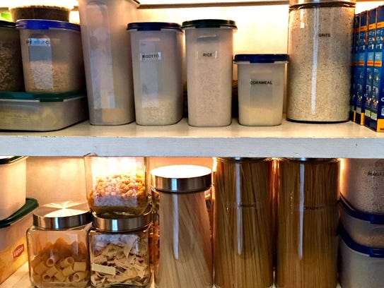 Clear containers make for an organized pantry and keep