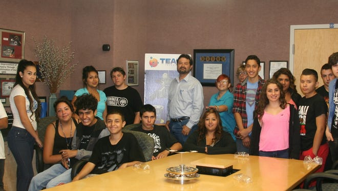 Students at a recent TEAM technologies workshop.