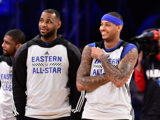 USP NBA: ALL STAR GAME-PRACTICE S BKN USA NY