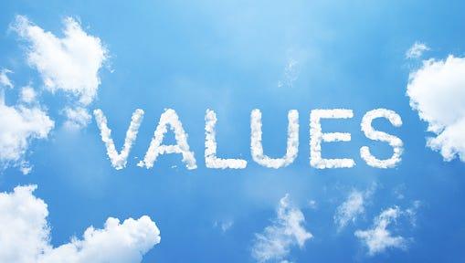 """values"" cloud word"