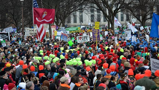 A March For Life rally in Washington, D.C. More than 50,000 people will rally again on Jan. 22.
