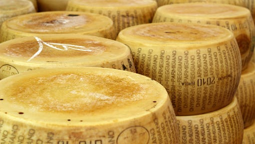Police are looking for a semi that took $90,000 worth of Parmesan cheese from a Marshfield warehouse.