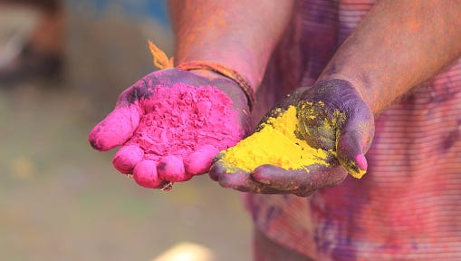 A celebration of Holi, a Hindu spring festival of colors, has been postponed.