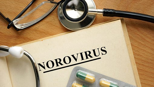 Word Norovirus. Medical concept.