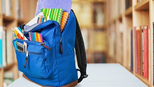 Moorestown Rotary Breakfast Club hosts its annual backpack stuffing drive.