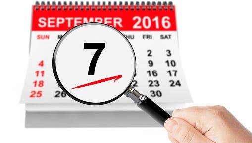 Sept. 7 date on calendar