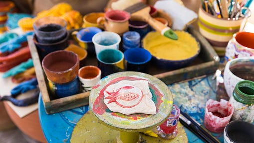 """On Nov. 23, """"Wacky Wednesday"""" means that no one pays the usual studio fees at As You Wish studios. Participants pay only for their pottery or glass. Find a studio near you: asyouwishpottery.com  Details: 10 a.m.-9 p.m. Mondays-Thursdays, 10 a.m.-10 p.m. Fridays and Saturdays and 11 a.m.-6 p.m. on Sundays. There are three Phoenix locations, one in Chandler, Tempe, Glendale, Mesa, asyouwishpottery.com."""