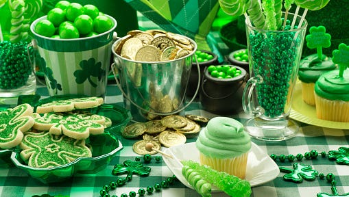 St. Patrick's Day Party Cupcake