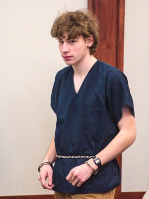 Jack Sawyer appears in Vermont Superior Court in Rutland on Feb. 27.
