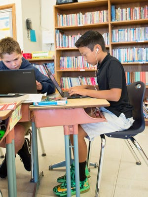 St. Mary Catholic School is a 1-to-1 school: one laptop per child throughout the school.