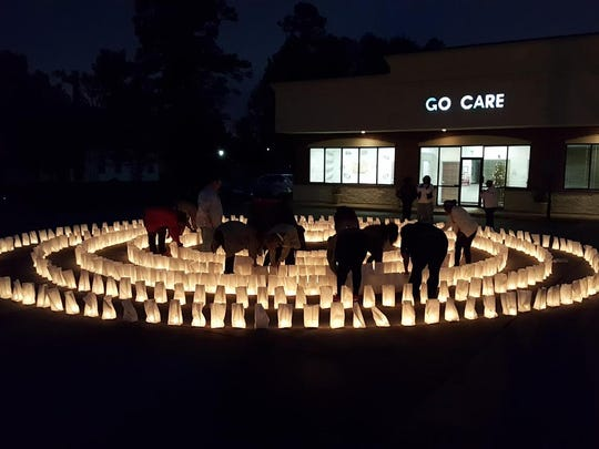 GO CARE will hold a candlelight labyrinth with a luminary