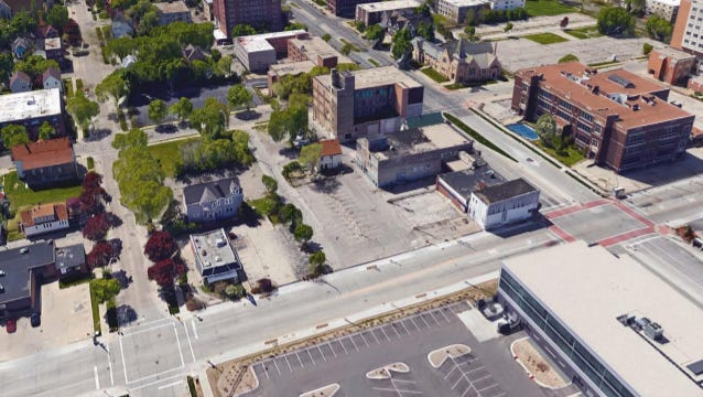 A block bordered by W. Wisconsin Ave., W. Michigan St., N. 27th St. and N. 28th St. is being targeted as a major development site by Near West Side Partners Inc.