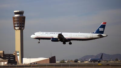 U.S. Airways passenger jet at Sky Harbor International Airport.