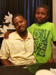Kevin Smith and son Damond.