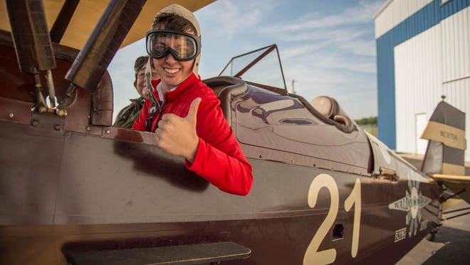 Dillon Davis takes his seat in a 1929 New Standard D-25.