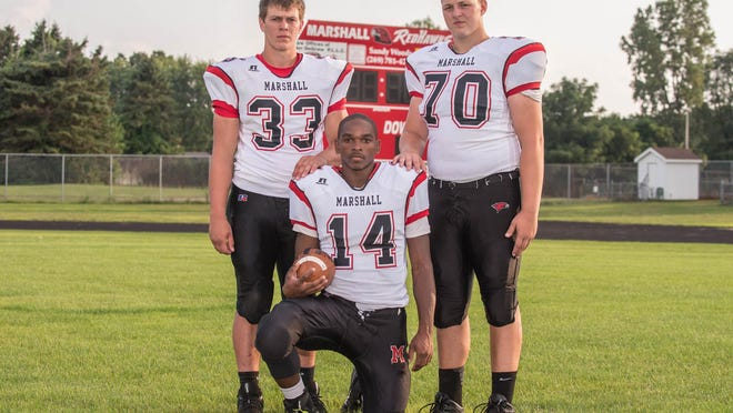 Marshall senior leaders, from left, Chris Upright, Forrest Jackson, Ryan Westrick.