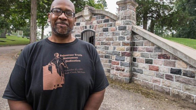 """Count Laws will be portraying John W. """"Pat"""" Patterson, who was Battle Creek's first black police officer, at Oak Hill Cemetery's Living History Tour on Sunday."""