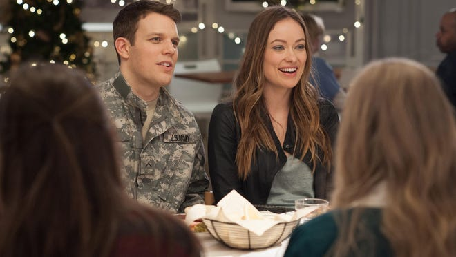 """Jake Lacy, as Joe, and Olivia Wilde as Eleanor, in """"Love the Coopers."""""""