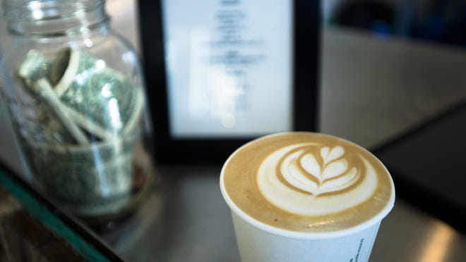 """A cappuccino at Prevail Union Coffee at their """"pop up shop"""" in Montgomery, Ala., on Tuesday, Nov. 17, 2015."""