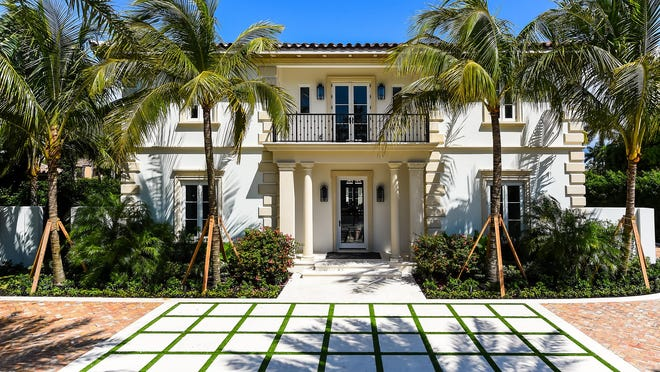 Developed on speculation, a never-lived-in Mediterranean-style house at 201 Dunbar Road in Palm Beach has sold to a trust for a recorded $10.345 million. A trust was on the buyer's side of the sale.