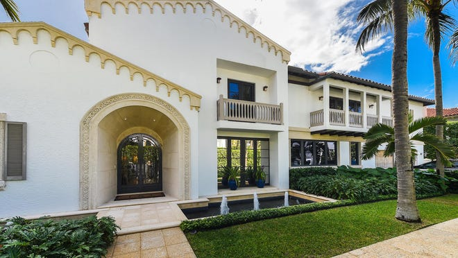 A Mediterranean-style house built in 1982 at 110 Atlantic Ave. in Palm Beach has changed hands for a recorded $8 million.