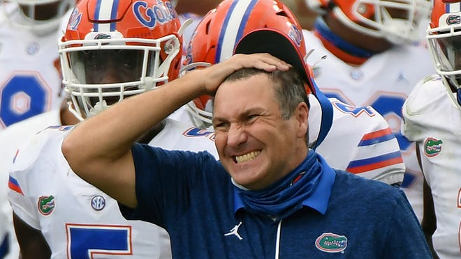 Florida coach Dan Mullen has brushed aside criticism praised his players for how well they have handled COVID safety protocols.