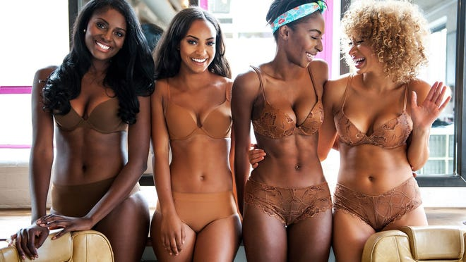 Nubian Skin, a new lingerie and hosiery business based in London, has created a line of nude lingerie and hosiery for women of color, with product shades ranging from a golden caramel to a deep brown.