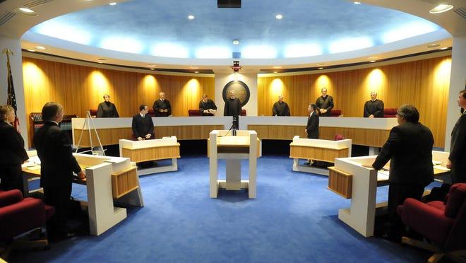 The Montana State Supreme Court chambers in Helena.