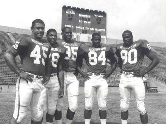 All-American lineup: George Webster (90) was one of