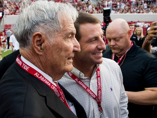 Former Alabama coach Gene Stallings and Clemson Coach