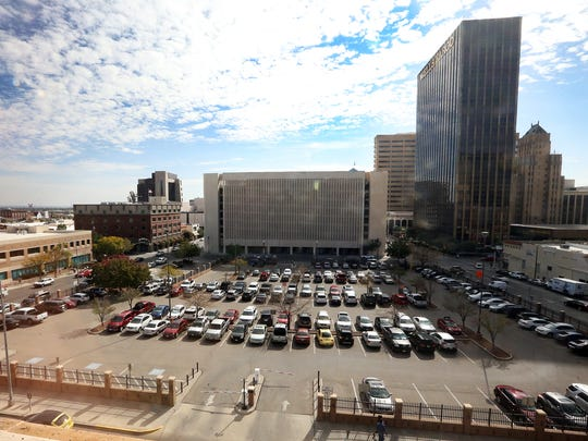 The parking lot across from City Hall at 300 N. Campbell in the heart of downtown El Paso.