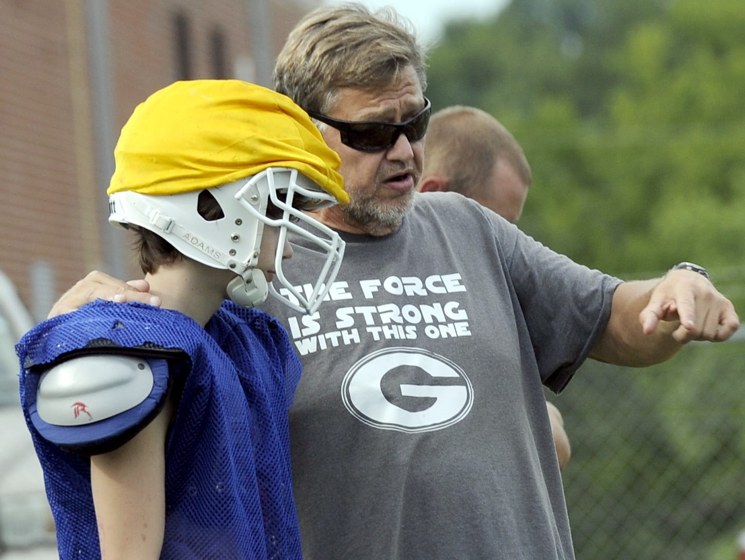 Gordonsville coach Ron Marshall instructs the scout-team offense during a recent practice.